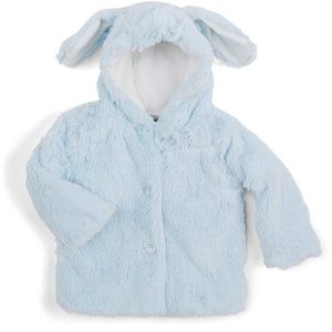 Mud Pie Blue Puppy Coat with Matching Slippers